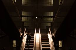 hero on a escalator
